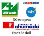 Campaña contra las farmacias involucradas en la colusión de precios.